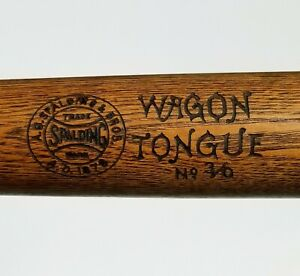 "1895-1912 SPALDING WAGON TONGUE 34"" Antique Baseball Bat Louisville Slugger Era"