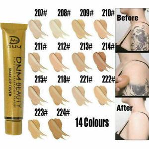 UK Tattoo Cover Up Makeup Skin Scar Birthmark Waterproof Concealer Primer Cream