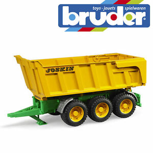 Bruder Toys Joskin Large Tipping Trailer Tri Triple Axle opening Tailgate O2212