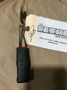 Newsies Original Cast Stage Used signed Prop Spoons Broadway Musical Disney
