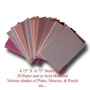 "Mat Board Art Project Pinks Colors Paper & Acid Buffered 20 Blank 4.75"" X 6.75"""