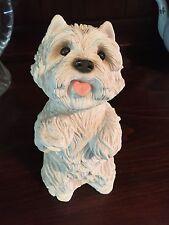 WESTIE WHITE HIGHLAND WHITE TERRIER DOG SANDICAST FIGURINE SANDRA BRUE #183 1985