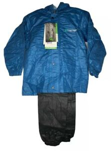 NEW Frogg Toggs Polly Woggs Youth Breathable Rain Suit Kids Blue Black Size M L