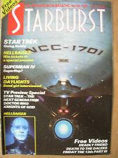 STARBURST MAGAZINE No 109 SEPTEMBER 1987 DOCTOR WHO - SUPERMAN IV - STAR TREK