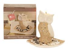 Owl Ceramic Modern Candle & Tea Light Holders