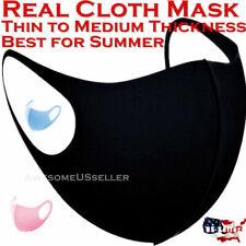 Black Women Men Unisex Face Masks Cloth Cover Mask Reusable Washable Fashion USA