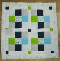 "Baby Quilt Handmade Boy Woodland Animals 33"" x 33""  New"