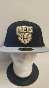 🔥🔥🔥OFFICIAL NEW JERSEY NETS NBA NEW ERA 59FIFTY FITTED 7 1/2 Hat NEW🏀🏀