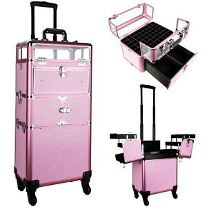 Professional Artist Makeup Train Case Cosmetic Organizer Drawers Lock and Keys