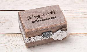 Wedding Ring Bearer Box, Wedding Ring Box, Rustic Ring Box, Custom Wood Ring Box