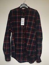 ZARA Mens Check Red Shirt Size XL BNWT RRP£29.99 Cotton
