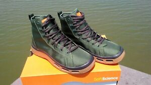 Men's Soft Science Boots The Terrafin Fly Fishing Boots / Shoes Sage size 8...