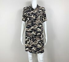 Equipment Femme Remy Utility Dress Silk Camo Camouflage Size Small - Ntsf