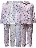 6286af20ae Womens Pyjamas Floral NightSuit Pjs Ladies Nighty Cotton Revere Collar 261