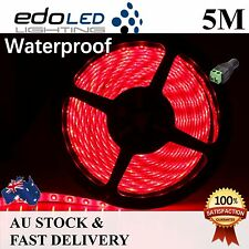 5M Red 3528 SMD 300 LED Waterproof 12V Led Strip Lights Car Boat Caravan