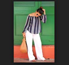 CONVERSE ONE STAR Beach Coverup Drawstring Linen Blend White Pants Sz 6
