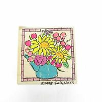 Stampassions E1255 Kettle Petals Block Rubber Stamp 1998 Sally Huss