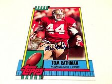 Tom Rathman 2013 Topps Archives Fan Favorit Autograph on Card #FFA-TR  49ers