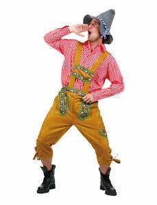 Mens German Lederhosen Oktoberfest Yodeler Shorts Costume Sized Holiday Costume