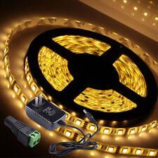 5M 300 LED Strip Light 5050/3528 Power Supply Bar Hotel Multi Colors US Flexible