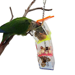 3 Layer Food Feeder Holder Forage Box Cage Parrot Hanging Chewing Feeding Toy