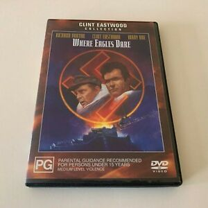 Where Eagles Dare DVD Clint Eastwood Australia Region 4