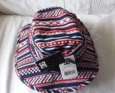 DC SHOE COMPANY Airhead mens L/XL bucket hat (BLUE & RED & WHITE) NWT