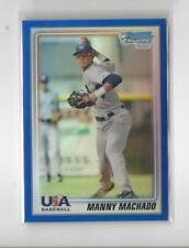 2010 Bowman Chrome USA Blue Refractor Manny Machado Rookie Dodgers Orioles /250