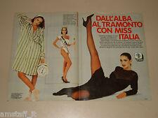 SUSANNA HUCKSTEP clipping articolo foto photo 1984 AT44 MISS ITALIA