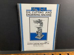 1930 Gorton 3-A Die Cutting & Engraving Machine Brochure, Racine WI, #7