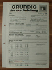 Radio Yacht-Boy 450 Grundig Service Manual Serviceanleitung