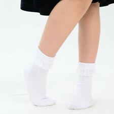 KID/'s Children/'s a righe con fiocco a righe verticali Calzini Di Cotone Bianco Grigio Nero