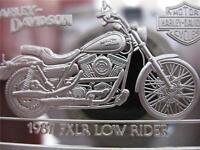 1.4-OZ.999 PURE SILVER 1987  LOW RIDER  90TH ANNIVERSARY HARLEY DAVIDSON + GOLD