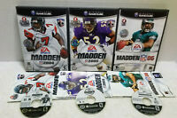MADDEN NFL GAMECUBE GAME LOT 3 GAMES 2004, 2005 & 06 ALL TESTED WORK GREAT
