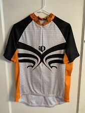 Pearl Izumi Mens Large Cycling Jersey Orange Black Short Sleeve A4