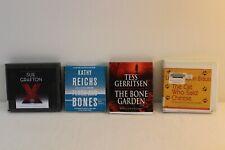 Lot of 4 Audiobook ~Reichs~Gerritsen~Jackson-Braun~Grafton~ Ex-Library