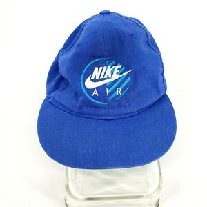 Vintage Nike Air Youth Kids Hat Snapback Cap Baseball Blue Nike Spell Out