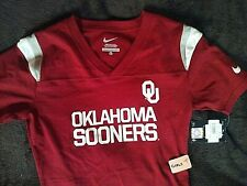 """New, Oklahoma Sooners Nike GIRLS XL """"RB Jersey"""" S/S Top, MSRP $30, Crimson"""