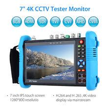 "12v 7"" 4k CCTV IP Tester Monitor 8gb HDMI TVI AHD CVBS Camera PTZ Poe Test Video"