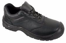 Steel Toe Cap Shoes Black Leather Safety Work Wear Wide Fit Sizes 3 - 13 (SBU03)