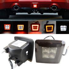 Smoked Lens Rear Light Cube LED Fog Brake Reverse Backup Light For Nissan 370Z Z