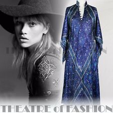 VINTAGE INDIAN DRESS SILK MASCOT 70s S M L XL XXL 60s HIPPY BOHO WEDDING GODDESS
