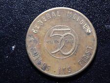 1954 GENERAL MOTORS BUILD ITS FIRST 50 MILLION CARS TOKEN!  YY201CXX
