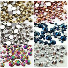 Metallic Color Crystals Glass Flatback Nail Art Rhinestones Clothes Decorations