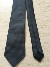 "TU grey patterned polyester tie 3"" wide 59"" long smart"
