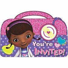 Doc McSuffins  YOU'RE INVITIED - INVITATIONS packet of 8- Party Supplies - New