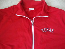 MLB Texas Rangers Baseball Red Majestic retro Zip Up Track Jacket XL