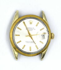 VINTAGE GENTS ROLEX 1550 OYSTER PERPETUAL DATE WRISTWATCH 14K YELLOW GOLD SHELL