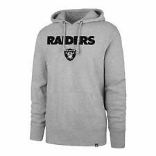 Oakland Raiders Men's '47 Brand Headline Pullover Hoody Sweatshirt - Gray