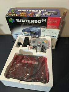 Nintendo 64 Console - Complete, authentic, CIB, manuals packaging controller N64